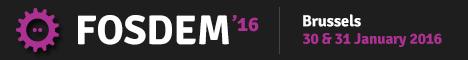 Fosdem 2016 banner