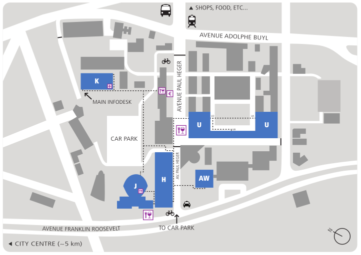 ULB Solbosch Campus map